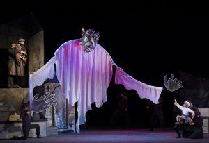 ランプの魔人ブダールと主人公アミン
